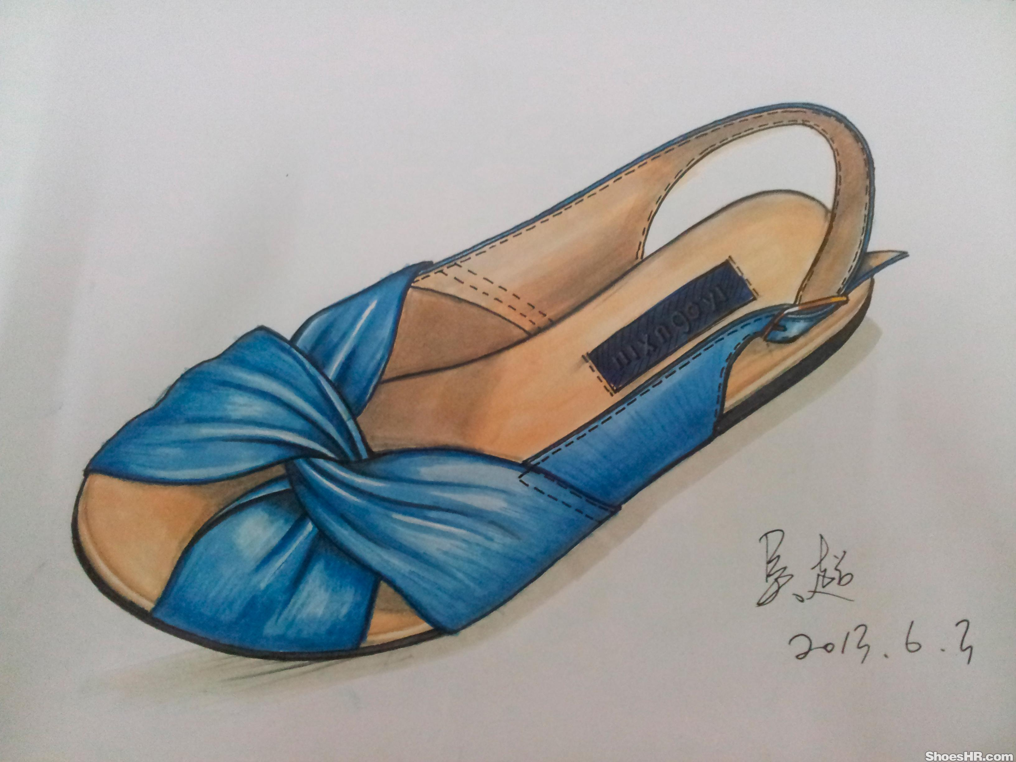 马克笔手绘,吴超--中国鞋业设计师网