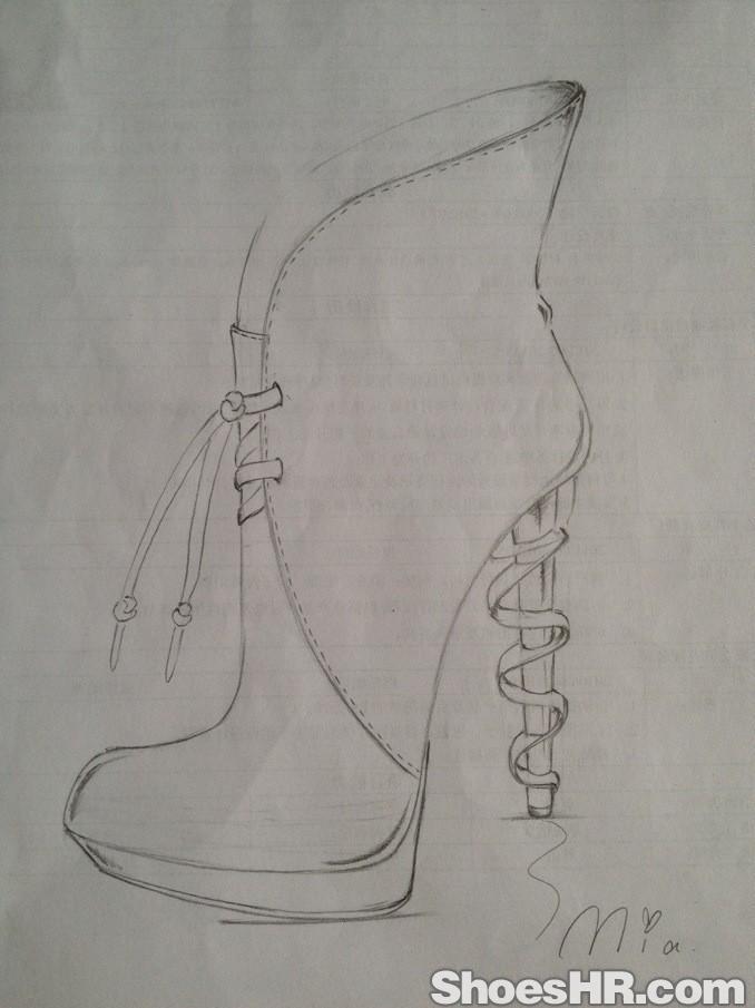 创意跟简单大方款短靴图片