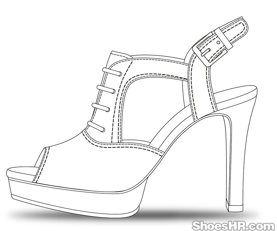 9.29女凉鞋设计图图片