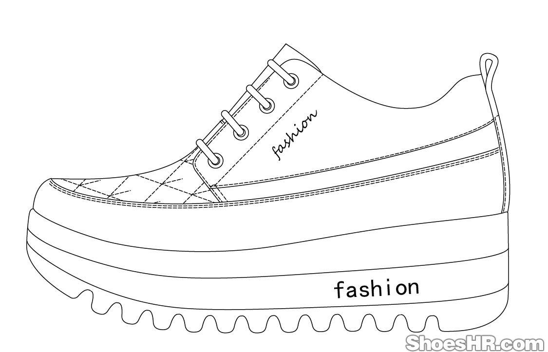 10.08女士松糕鞋-设计图图片