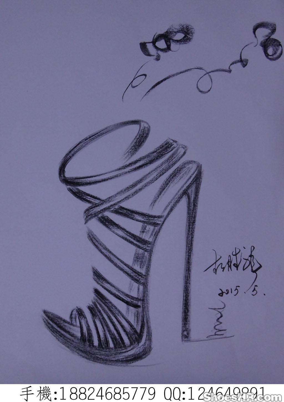 时装手稿-欧洲时装凉鞋,mike--鞋业设计师网图片
