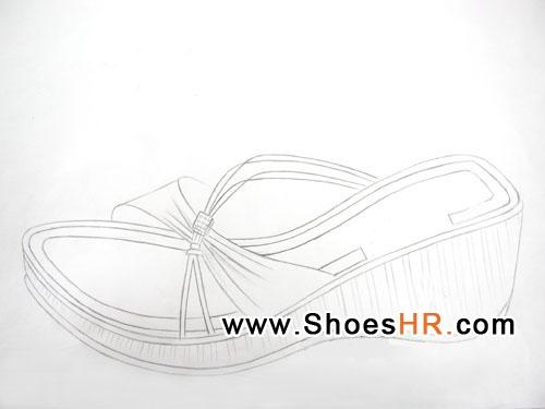 女凉鞋手稿图,陈燕--中国鞋业设计师网图片