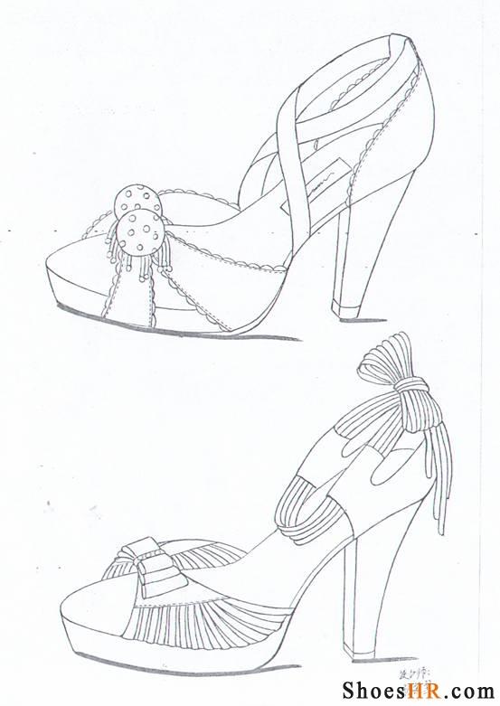 手稿,孙翠翠--中国鞋业设计师网图片