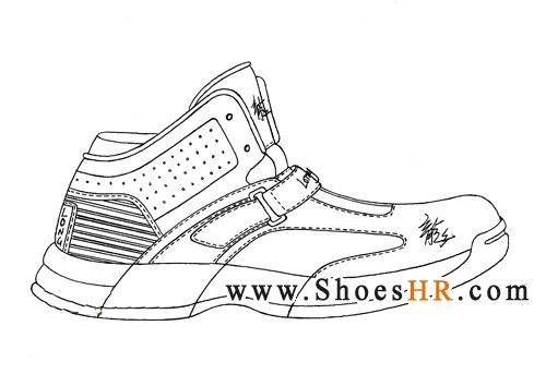 运动鞋设计手稿