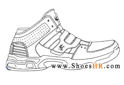 运动鞋设计手稿图片
