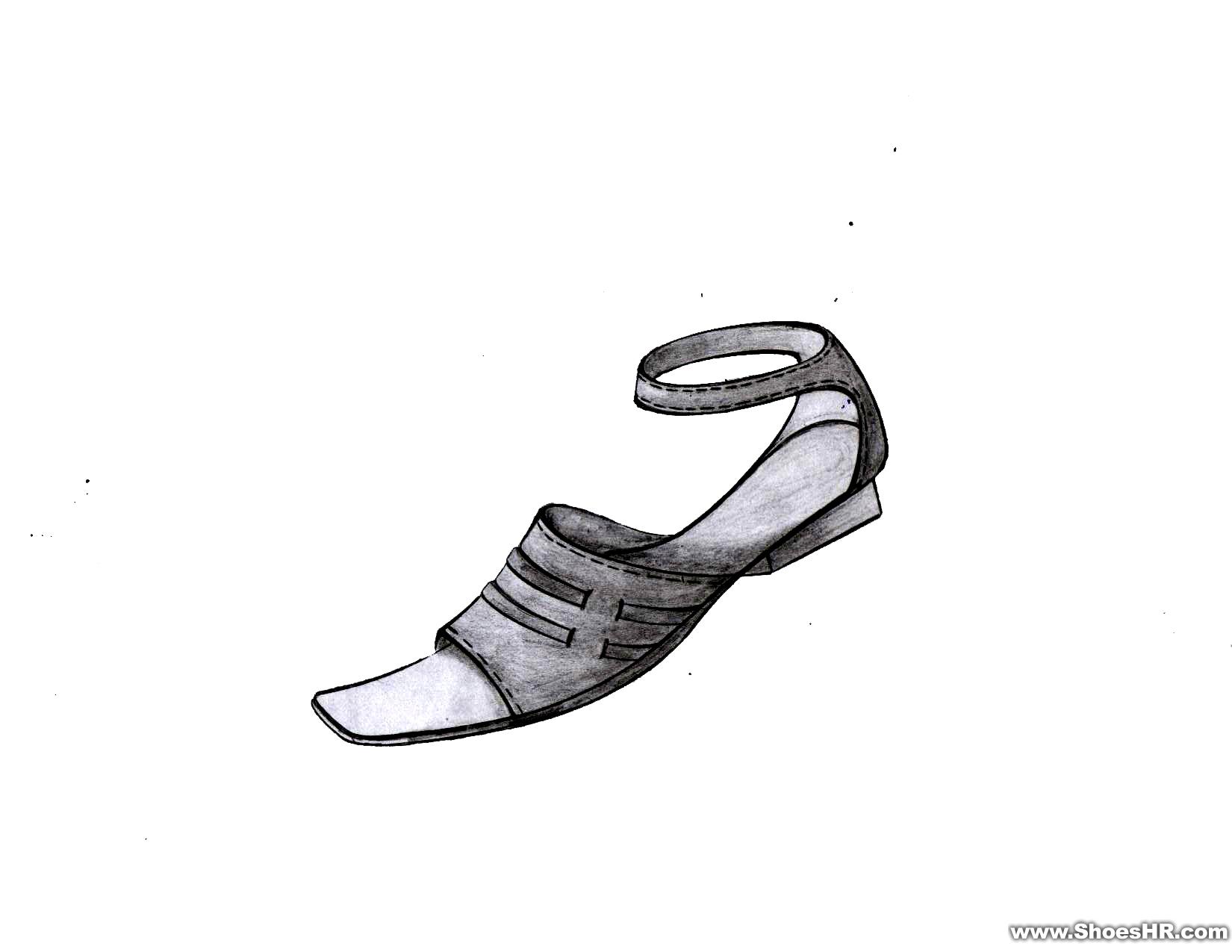 手绘女鞋效果图4