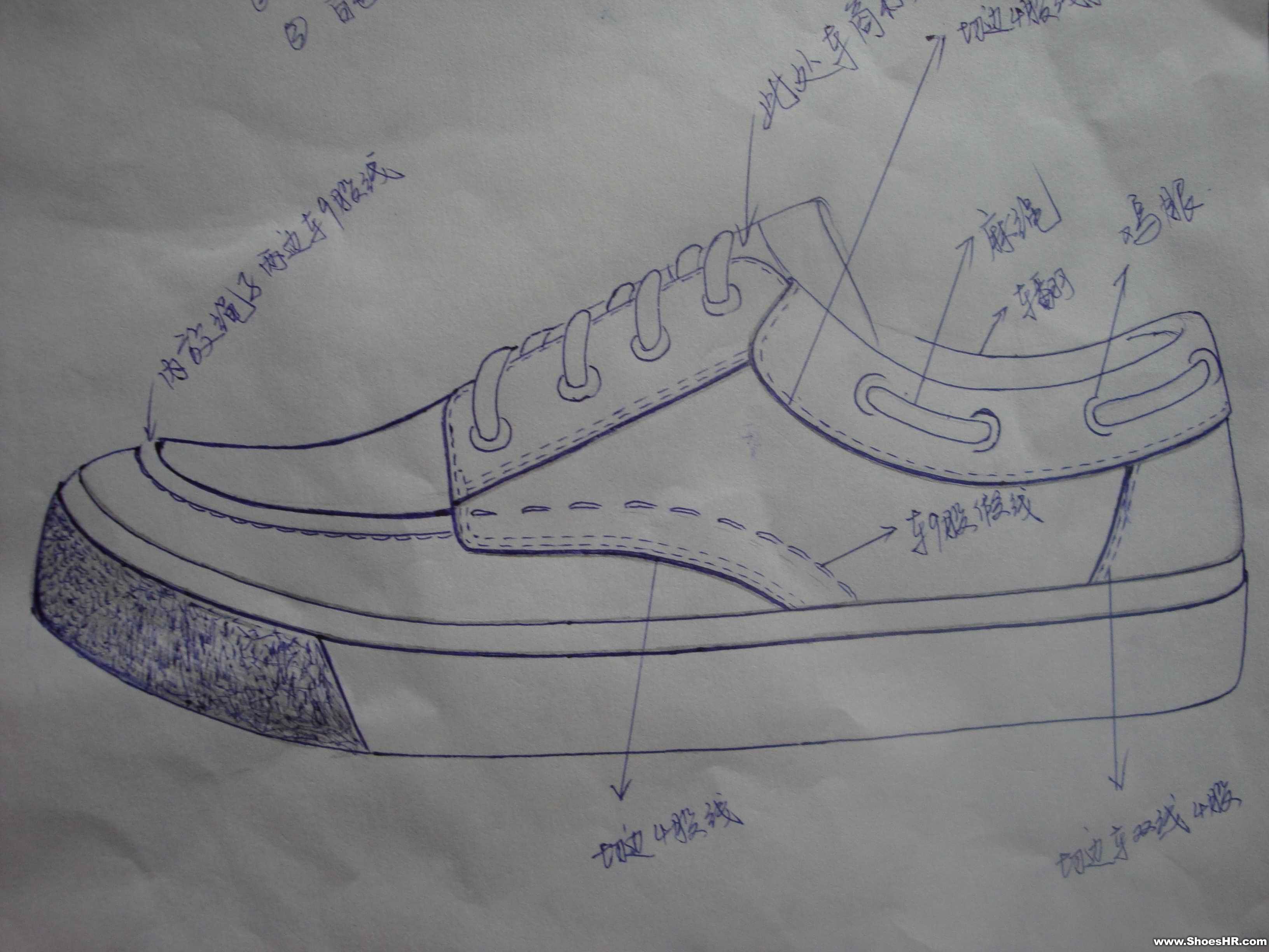 手稿,张小洋--鞋业设计师网图片
