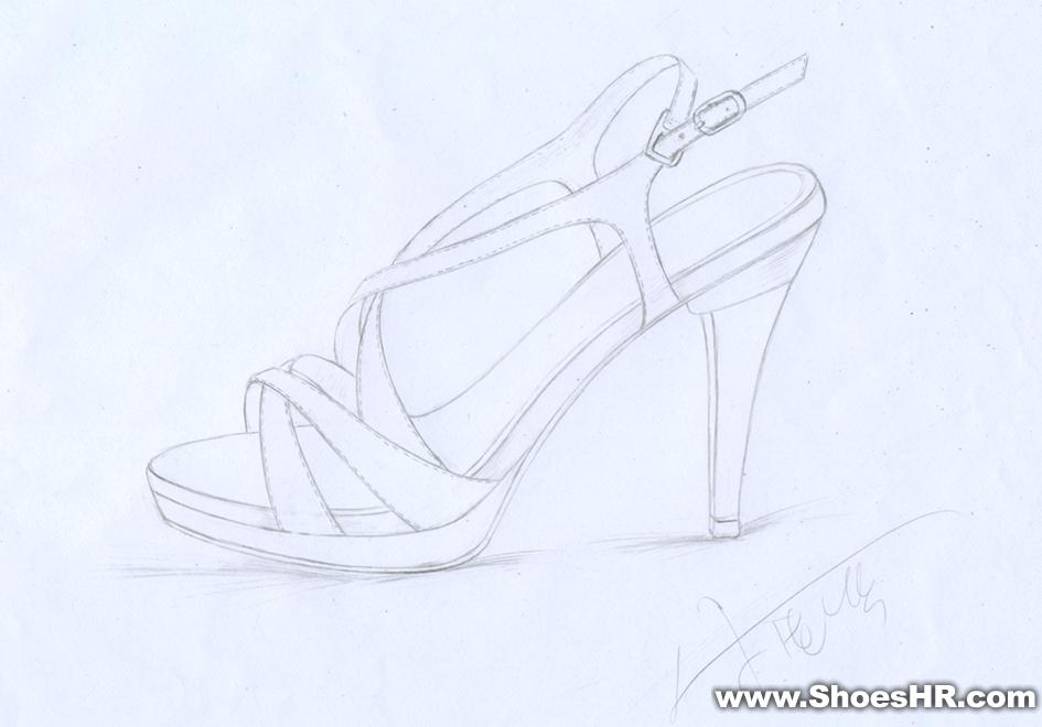 手稿女凉鞋,小付子--中国鞋业设计师网图片