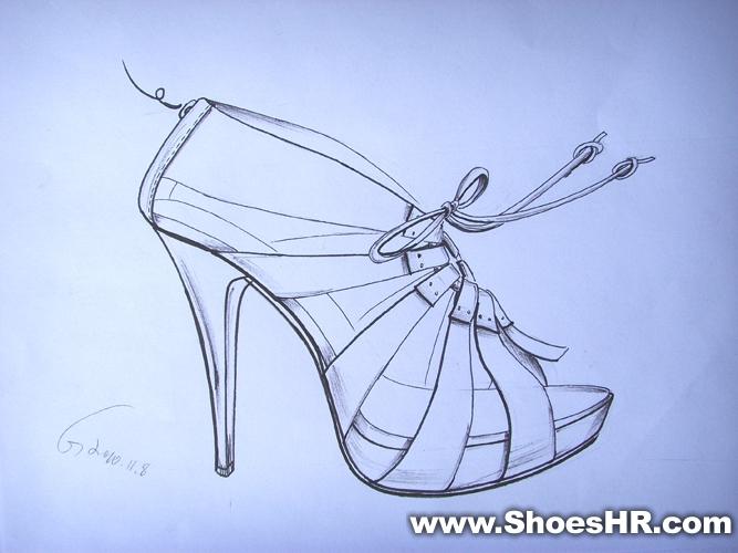 手稿,广州好时光鞋样培训学校--中国鞋业设计师网图片