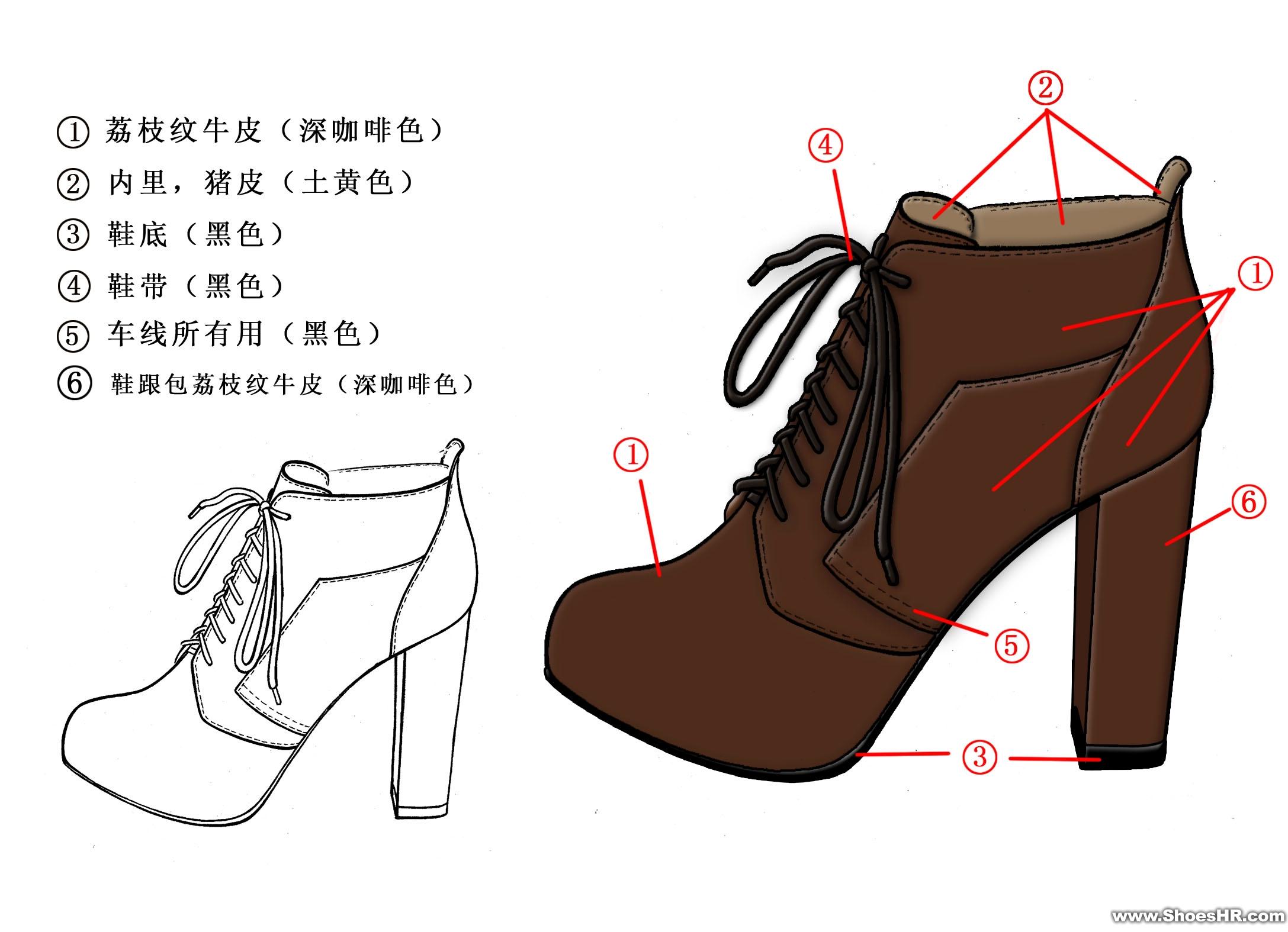 一字高跟鞋的设计图展示图片