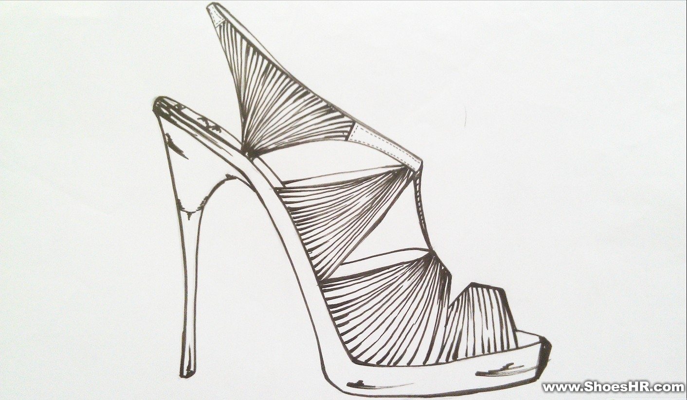 球鞋设计图手绘